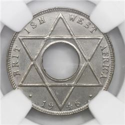 British West Africa (struck at the King's Norton mint, England), copper-nickel 1/10 penny, 1946-KN,