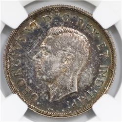 Canada, 50 cents, 1939, George VI, NGC MS 62.