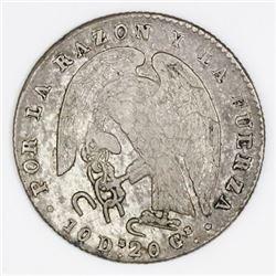 Santiago, Chile, 2 reales, 1849ML.