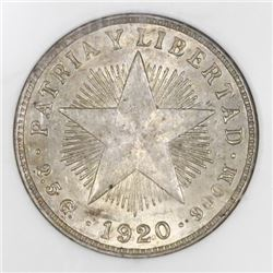 Cuba, 10 centavos, 1920, NGC MS 62.