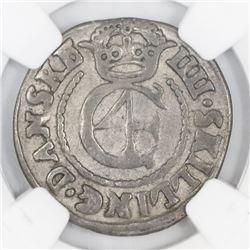 Denmark, 4 skilling, 1645, NGC VF 20.