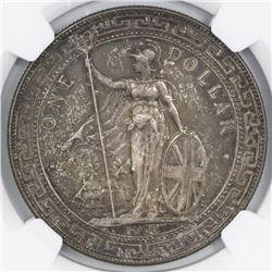 Great Britain (Bombay mint), trade dollar, George V, 1911-B, NGC AU 58.