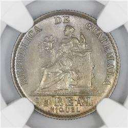 Guatemala, nickel 1/2 real, 1900, NGC MS 64.