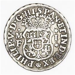 Mexico City, Mexico, pillar 1 real, Philip V, 1737MF, ex-Glendining.