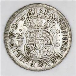 Mexico City, Mexico, pillar 1 real, Philip V, 1741MF.