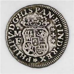 Mexico City, Mexico, pillar 1/2 real, Philip V, 1736MF, ex-Glendining.