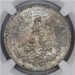 Mexico City, Mexico, 50 centavos, 1937, NGC MS 65.