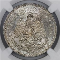 Mexico City, Mexico, 50 centavos, 1937, NGC MS 65.