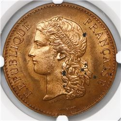 France, bronze medal, Exposition Universelle (1889), NGC MS 64 RB.