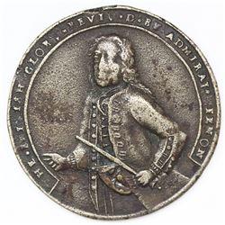 Lot of two Great Britain copper alloy Admiral Vernon medals, 1739, Porto Bello.