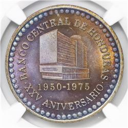 Honduras, silver medal, 1975, Central Bank 25th anniversary, NGC MS 66.