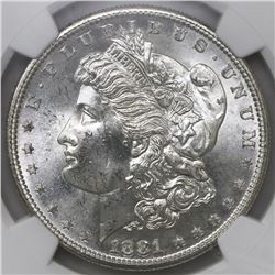 USA (San Francisco mint), $1 Morgan, 1881-S, NGC MS 65.