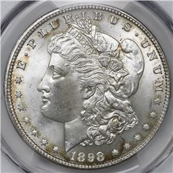 USA (Philadelphia mint), Morgan dollar, 1898, PCGS MS65.