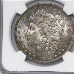 USA (New Orleans mint), 1 dollar Morgan, 1904-O, NGC MS 65.