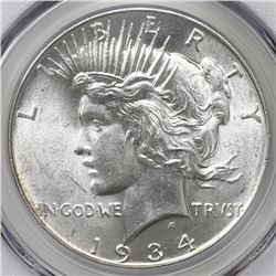 USA (Philadelphia mint), Peace dollar, 1934, PCGS MS62.