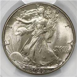 USA (Philadelphia mint), half dollar Walking Liberty, 1945, PCGS MS64.