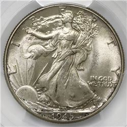 USA (Philadelphia mint), half dollar Walking Liberty, 1945, PCGS MS64.