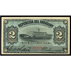 Paraguay, Republic del Paraguay, 2 pesos fuertes, 28-1-1916, serial 332438.