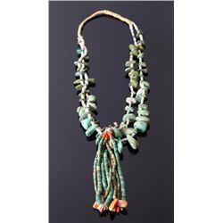 Navajo Carico Lake Turquoise & Jacla Necklace
