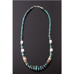 Navajo T&R Singer Pauite Turquoise Necklace