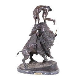 HUGE Buffalo Horse Bronze by Frederick Remington