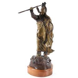 David Manuel Chief Joseph Bronze Statue c. 1980