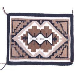 Navajo Two Grey Hills Wool Rug - Crownpoint c.1950