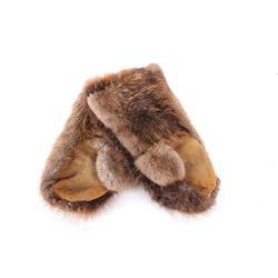 Early Eskimo Beaver Gauntlet Gloves