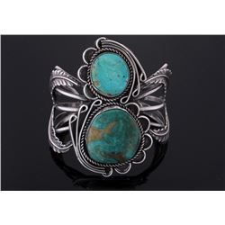 Navajo Native American Turquoise Mountain Bracelet