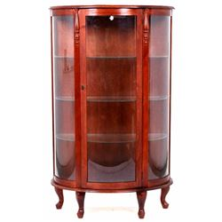 20th Century Walnut Curators Display Cabinet