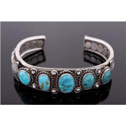 Navajo Native American Turquoise Bracelet