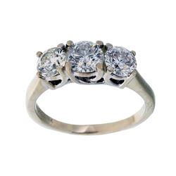 14K White Gold & Diamond Magic Glo Ring