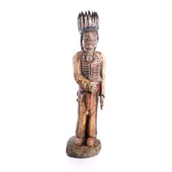 Large Cigar Store Indian American Carved