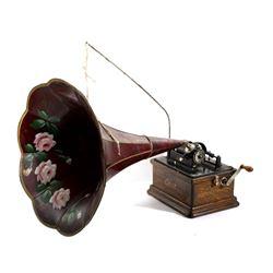 Edison Fireside Combination Phonograph & Cylinders