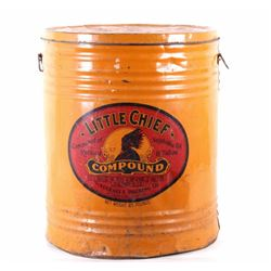 Early Little Chief Compound Tin Barrel