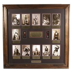 Chiefs of Little Bighorn Framed Wall Display