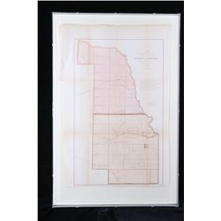 1858 Map of Public Survey Progress of KS and NE
