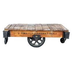 Original Early 1900's Lineberry Factory Cart