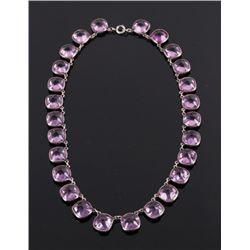 Victorian Amethyst & Sterling Silver Necklace