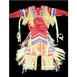 Chippewa Cree Embroidered Dance Outfit 1950-1960's