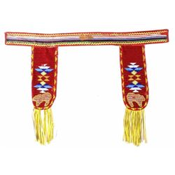 Chippewa Cree Beaded & Embroidered Belt c. 1950's