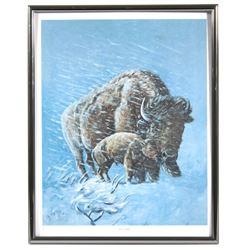 "William Rains Oil on Canvas Print ""The Storm"""