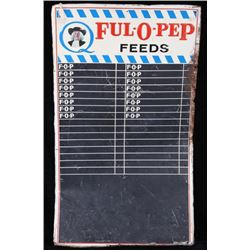 Quaker Oats Ful-O-Pep Feeds Advertising Sign