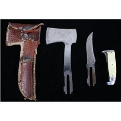 Western Boulder Colo. Knife & Hatch MOP Set c 1930
