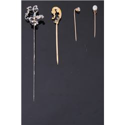 Collection of Pre 1910 Gold & Silver Hatpins