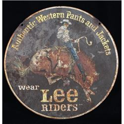 Mid 1900's Metal Lee Riders Double Sided Sign