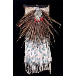 Northern Plains Beaded Pheasant Breech Clout 1900