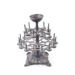 1800's Cast Iron Free Form Spool Tree