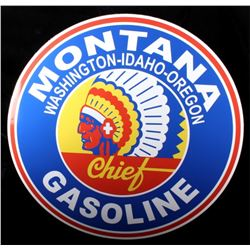 Montana Chief Gasoline Advertising Sign Replica