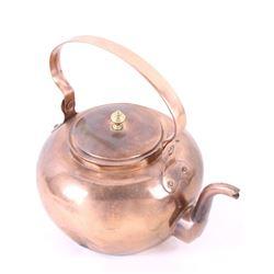1860's Penn. Goose Neck Dovetail Copper Kettle